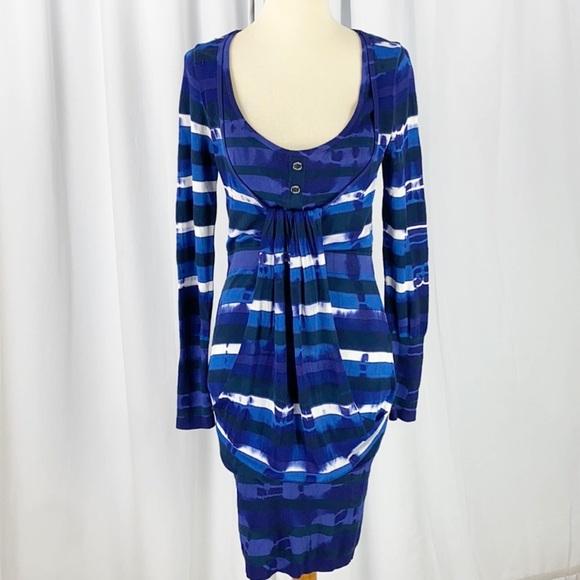 Karen Millen Drape Front Knit Bodycon Tie Dye